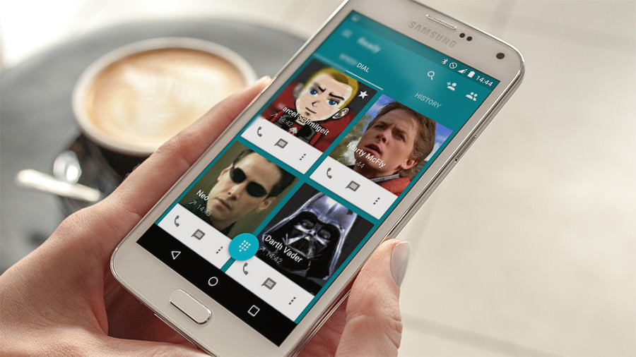 Ready contact list alternative telefon app f r android - Android app ideen ...