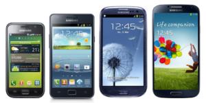 Vergleich: Vom Samsung Galaxy S bis zum Galaxy S4