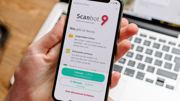 scanbot 9 0 scanner app setzt ab sofort auf abo statt auf. Black Bedroom Furniture Sets. Home Design Ideas