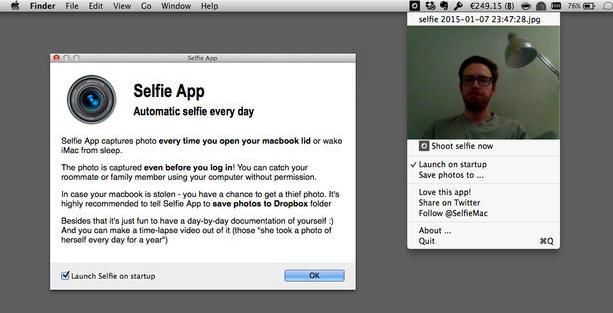 App mac app schießt bei jedem login ein foto mittels facetime kamera