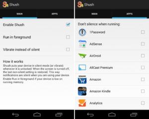 Android: Shush schaltet euer Gerät während der Benutzung auf Stumm