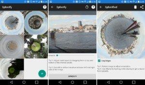 """Spherify für Android erstellt """"Tiny Planets"""" aus Bildern"""