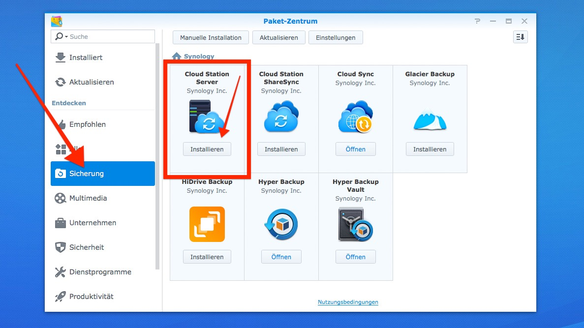 Synology Drive Or Cloud Station Server