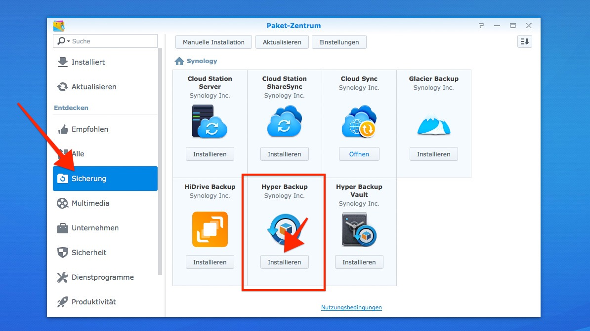 Synology DiskStation: Offsite-Backup auf USB-Datenträger mit