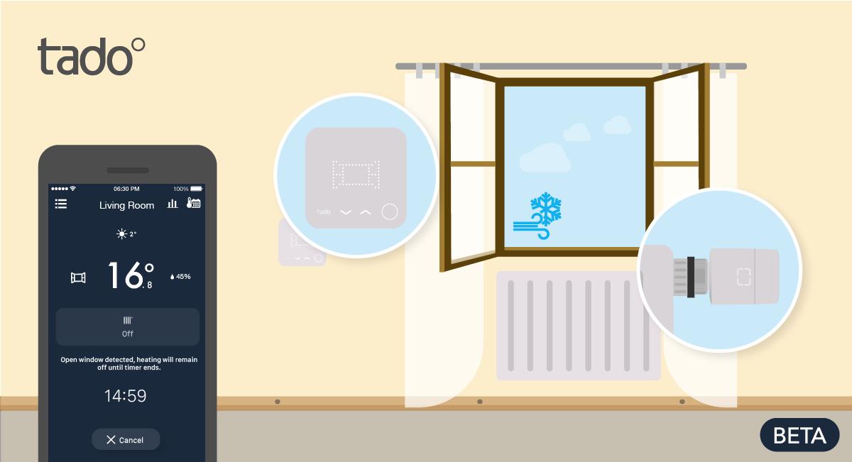 smart home tado heizk rperthermostate erhalten fenster offen erkennung. Black Bedroom Furniture Sets. Home Design Ideas