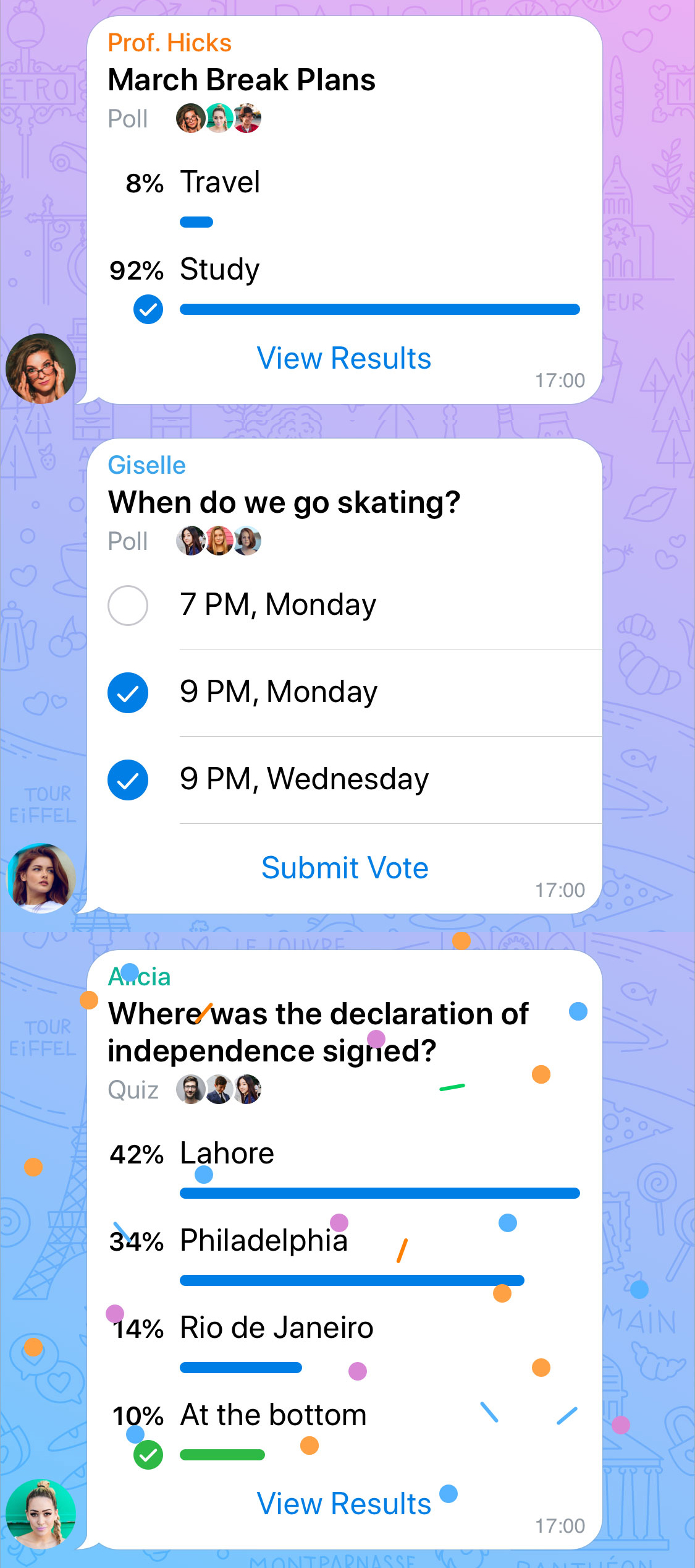 Telegram Umfrage