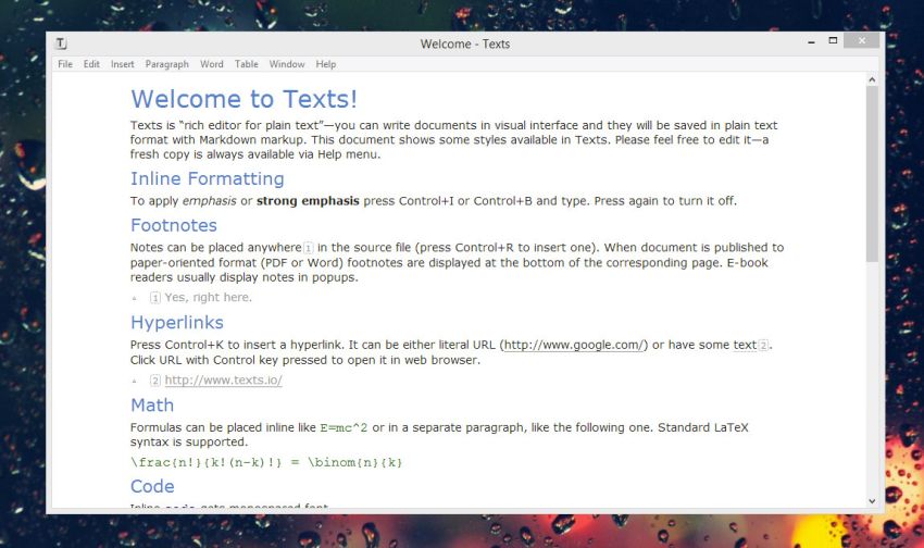 texts-windows