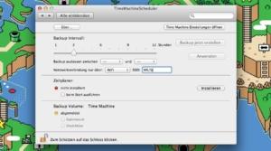 TimeMaschineScheduler: Time Machine konfigurieren – wieder mal…