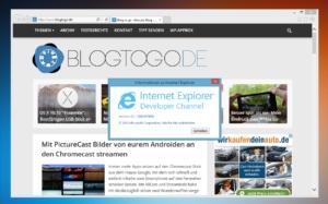 Für Experimentierfreudige: Internet Explorer bekommt Developer Channel