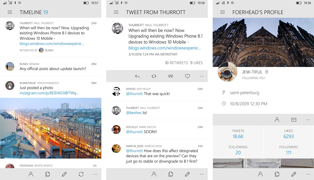 Tweet It: Gelungene Twitter-App mit Push und Streaming für Windows