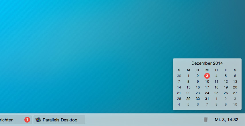 uBar: Dock-Alternative für den Mac, die Windows-Taskbar