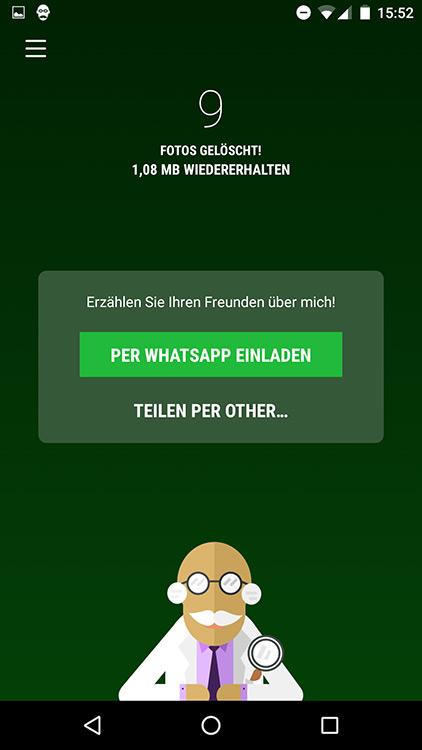 whatsapp magic cleaner: app für android und ios räumt whatsapp, Einladung