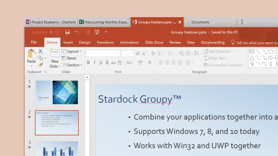 Windows: Groupy macht Tabs für alle Fenster & Programme möglich