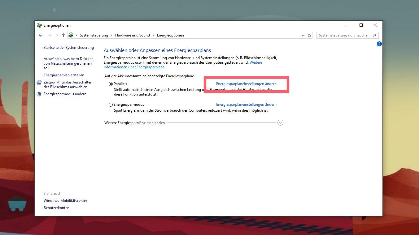 Windows 10: Mit dem Powerbutton nur den Bildschirm ausschalten