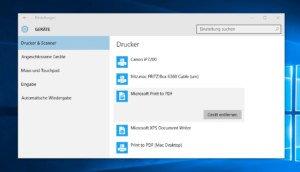 Windows 10: PDF-Drucker zum Speichern als PDF direkt an Board