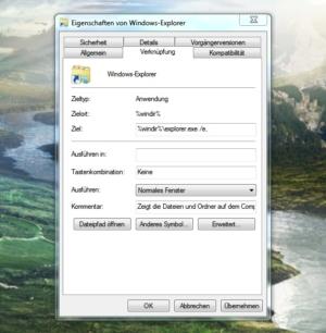 Arbeitsplatz statt Bibliothek in Windows 7