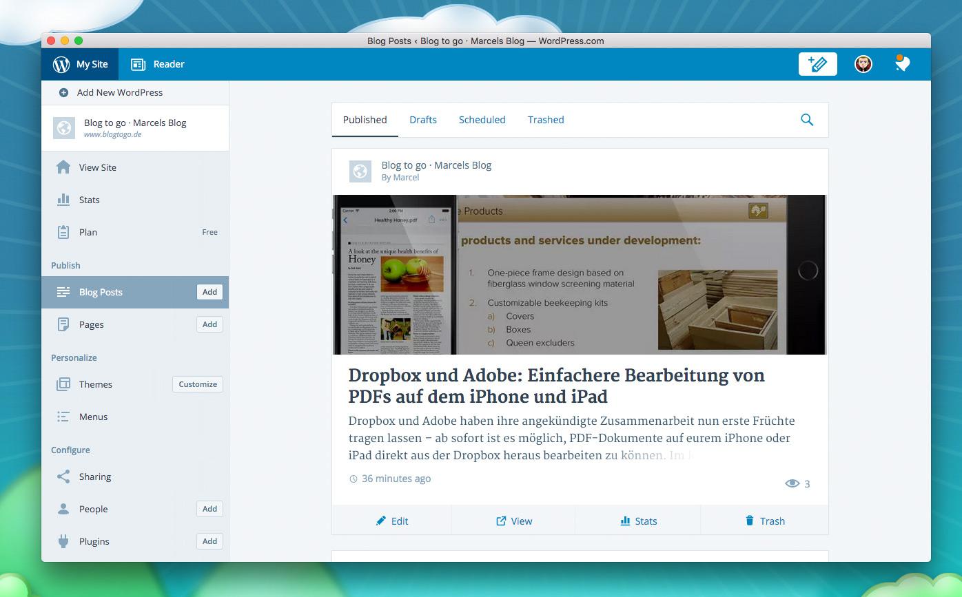Image result for WordPress app for Mac