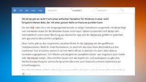 Write!: Simpler Text-Editor für Windows mit Textile- und Markdown-Support