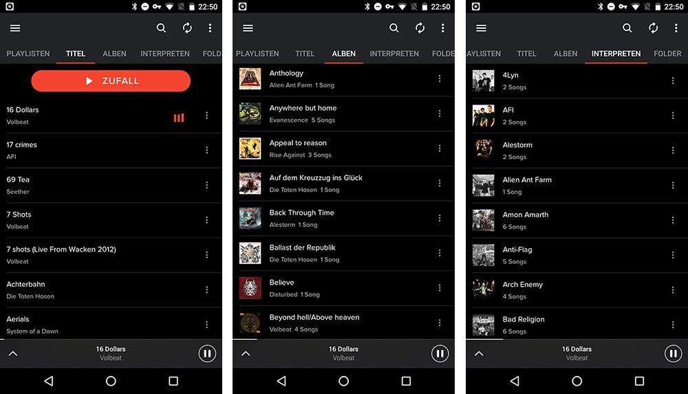 X Music Player: Musik-App für lokale Dateien im Spotify-Look