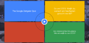Google Zeitgeist 2013: Quiz zum Jahresgeschehen online